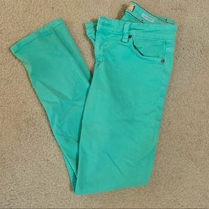 Sanctuary denim seafoam green skinny jeans